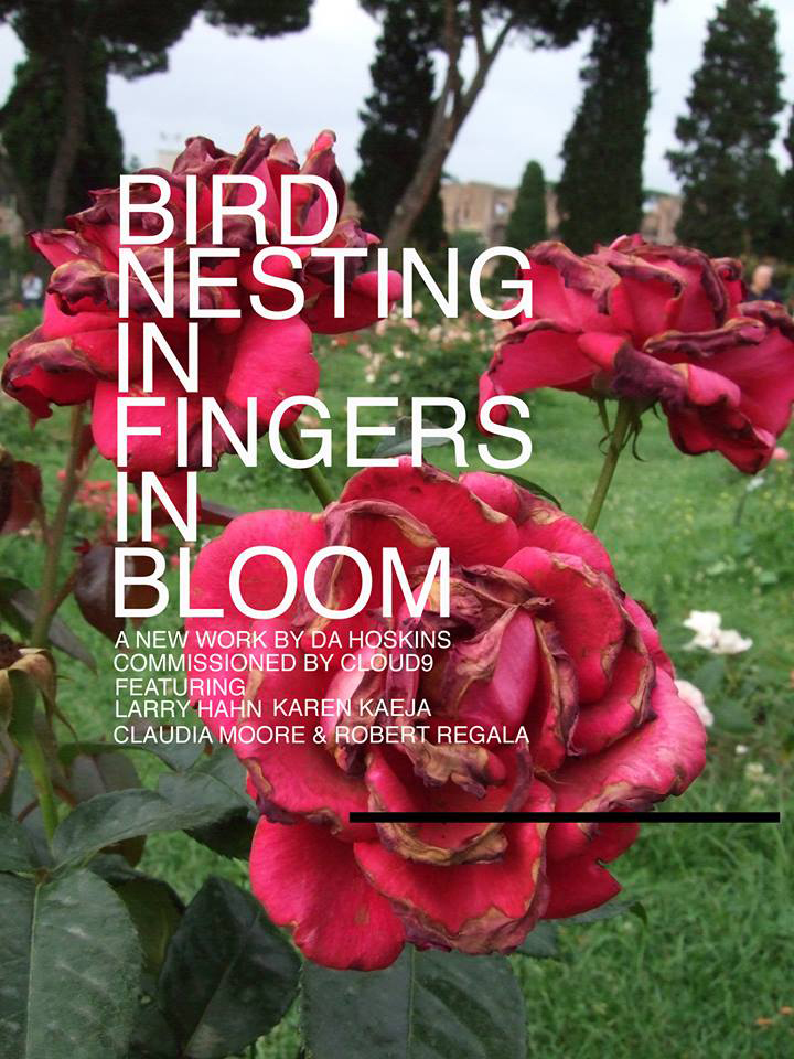 BIRD NESTING IN FINGERS IN BLOOM